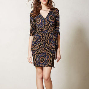 Anthropologie Vanessa Virginia wrap Lena dress